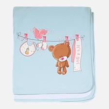 It's a girl baby blanket