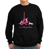 Paris le chat noir Sweatshirt (dark)