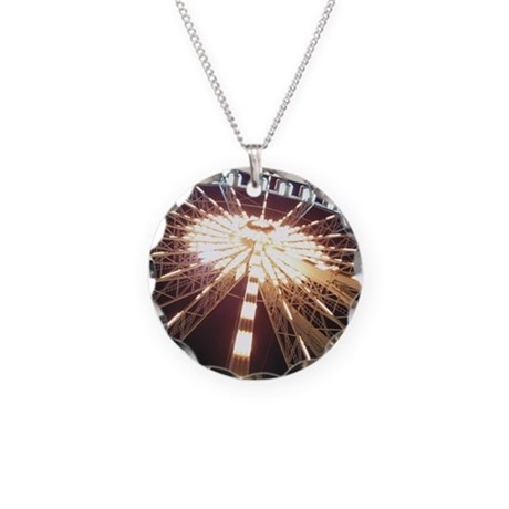 Ferris Wheel Necklace Circle Charm