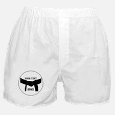 Custom Martial Arts Black Belt Boxer Shorts