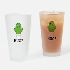 Cactus Hug Drinking Glass