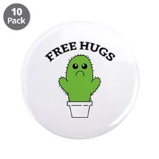 "Free Hugs 3.5"" Button (10 pack)"