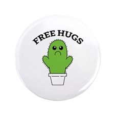 """Free Hugs 3.5"""" Button (100 pack)"""