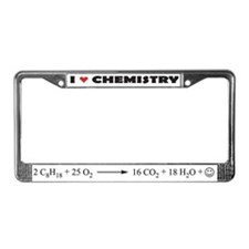 I love chemistry license plate frame