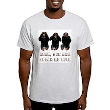 """""""No Evil"""" Ash Grey T-Shirt"""