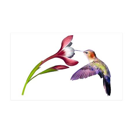 Hummingbird in flight 35x21 Wall Decal