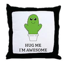 Hug Me I'm Awesome Throw Pillow