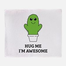 Hug Me I'm Awesome Throw Blanket