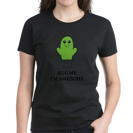 Hug Me I'm Awesome Women's Dark T-Shirt