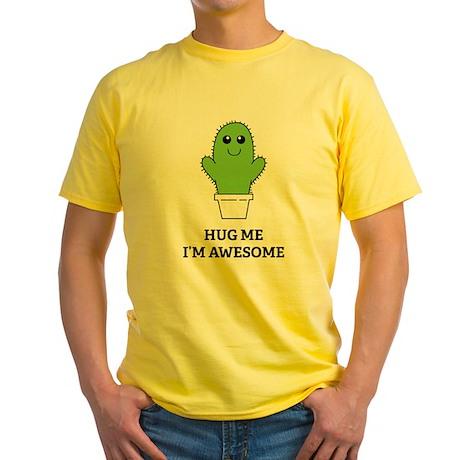 Hug Me I'm Awesome Yellow T-Shirt