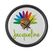 Jacqueline the Turkey Large Wall Clock