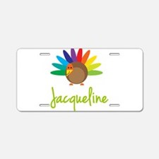 Jacqueline the Turkey Aluminum License Plate