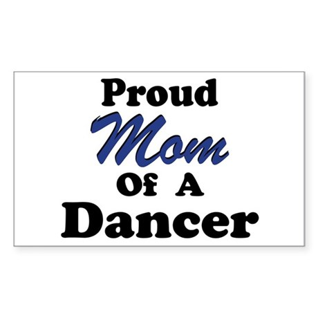 Mom of a Dancer Rectangle Sticker