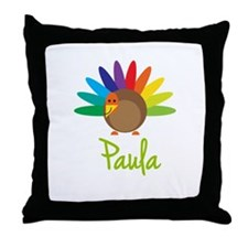 Paula the Turkey Throw Pillow