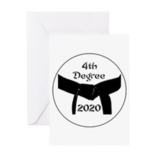 4th Degree Black Belt Greeting Card