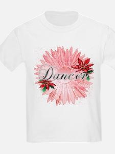 Dancer Pink Snow Flower T-Shirt