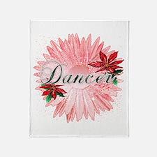 Dancer Pink Snow Flower Throw Blanket