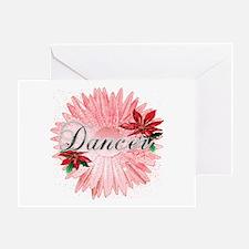 Dancer Pink Snow Flower Greeting Card