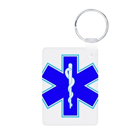 Star of Life (Ambulance) Aluminum Photo Keychain
