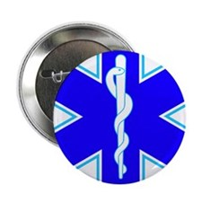 "Star of Life (Ambulance) 2.25"" Button"
