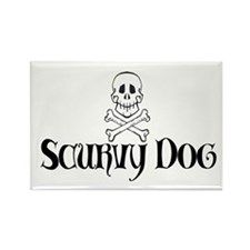 Scurvy Dog Rectangle Magnet