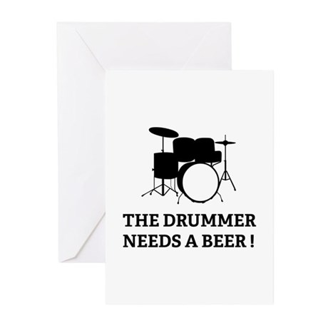 Drummer Beer Greeting Cards (Pk of 10)
