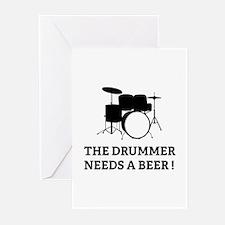 Drummer Beer Greeting Cards (Pk of 10)