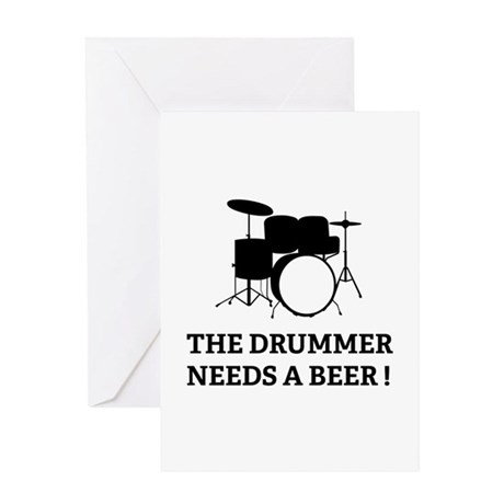 Drummer Beer Greeting Card