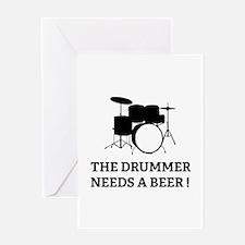 Drummer Beer Greeting Card