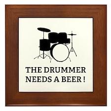 Drummer Beer Framed Tile