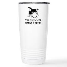 Drummer Beer Travel Mug