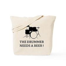 Drummer Beer Tote Bag