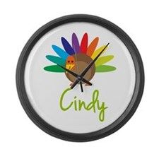 Cindy the Turkey Large Wall Clock