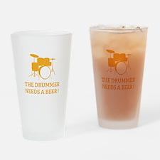 Drummer Beer Drinking Glass