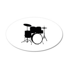 Drums 22x14 Oval Wall Peel