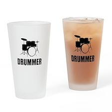 Drummer Drinking Glass