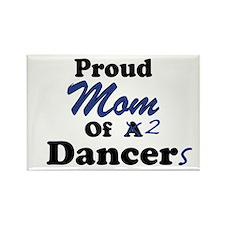 Mom of 2 Dancers Rectangle Magnet