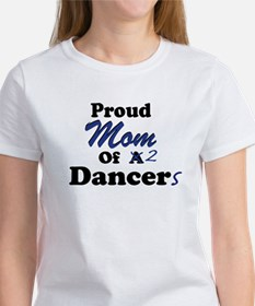 Mom of 2 Dancers Women's T-Shirt