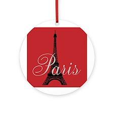 Paris Always (rouge) Ornament (Round)