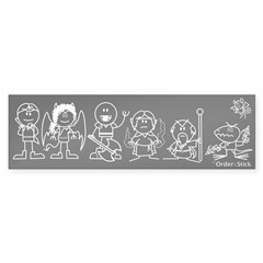 """Linear Guild """"Family"""" Car Bumper Sticker"""