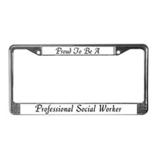 Social Work Pride License Plate Frame 1