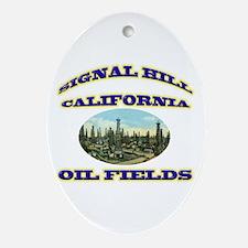 Signal Hill California Ornament (Oval)