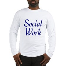 Social Work (blue) Long Sleeve T-Shirt