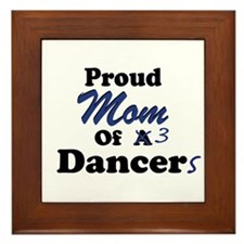 Mom of 3 Dancers Framed Tile