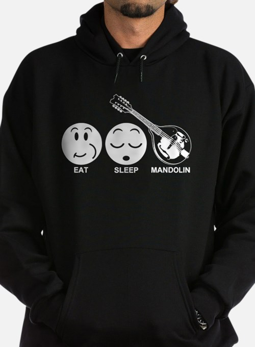 Eat Sleep Mandolin Hoodie (dark)