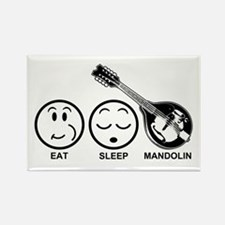 Eat Sleep Mandolin Rectangle Magnet