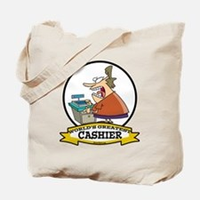 WORLDS GREATEST CASHIER Tote Bag