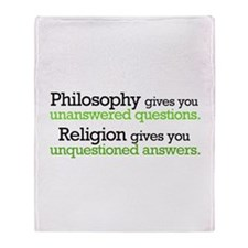 Philosophy & Religion Throw Blanket