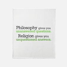 Philosophy & Religion Throw Blanket