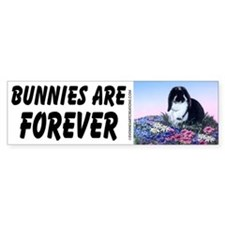 French Lop & Flowers Bumper Bumper Sticker
